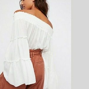 Free People Tops - Free People Free Spirit Off Shoulder White Top XS